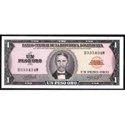 Доминиканская Республика 1 песо 1976 г. (DOMINICAN REPUBLIC 1 Peso Oro 1976 g.) P108а:Unc