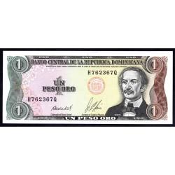 Доминиканская Республика 1 песо 1987 г. (DOMINICAN REPUBLIC 1 Peso Oro 1987 g.) P126b:Unc