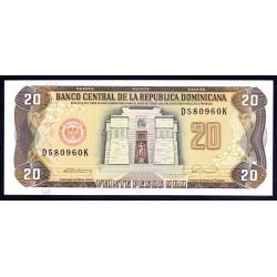 Доминиканская Республика 20 песо 1990 г. (DOMINICAN REPUBLIC 20 Pesos Oro 1990 g.) P133:Unc