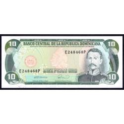 Доминиканская Республика 10 песо 1990 г. (DOMINICAN REPUBLIC 10 Pesos Oro 1990 g.) P132:Unc