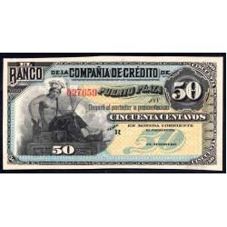 Доминиканская Республика 50 центаво ND (188.. г.) (DOMINICAN REPUBLIC 50 centavos  ND (188... g.)) PS102:Unc