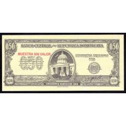Доминиканская Республика 50 центаво ND (1961 г.) (DOMINICAN REPUBLIC 50 Centavos Oro ND (1961 g.)) PS90:Unc