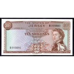 Джерси 10 шиллингов ND (1963 г.) (JERSEY 10 Shillings ND (1963)) P7:Unc
