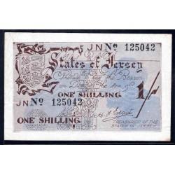 Джерси 1 шиллинг ND (1941 -1942 г.) (JERSEY 1 Shilling ND (1941-1942)) P2:XF