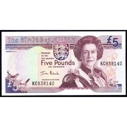 Джерси 5 фунтов ND (2000 г.) (JERSEY 5 Pounds ND (2000)) P27а:Unc