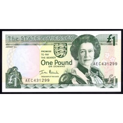 Джерси 1 фунт ND (2000 г.) (JERSEY 1 Pound ND (2000)) P26а:Unc