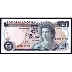 Джерси 1 фунт ND (1976-1988 г.) (JERSEY 1 Pound ND (1976-1988)) P11а:Unc