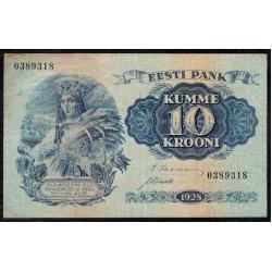 Эстония 10 крон 1928 г. (ESTONIA 10 krooni 1929 g.) P63:XF