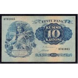 Эстония 10 крон 1928 г. (ESTONIA 10 krooni 1929 g.) P63:XF-