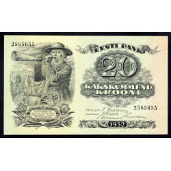 Эстония 20 крон 1932 г. (ESTONIA 20 krooni 1932 g.) P64:Unc