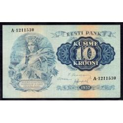 Эстония 10 крон 1937 г. (ESTONIA 10 krooni 1937 g.) P67:aUnc