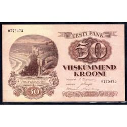 Эстония 50 крон 1929 г. (ESTONIA 50 krooni 1929 g.) P65:Unc