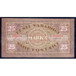 Эстония 25 марок 1922 г. (ESTONIA 25 marka 1922 g.) P54b:XF-
