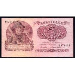 Эстония 5 крон 1929 г. (ESTONIA 5 krooni 1929 g.) P62:XF-