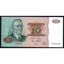 Финляндия 10 марок 1980 г. (FINLAND 10 Markkaa / Mark 1980) P111:Unc