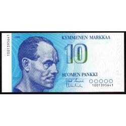 Финляндия 10 марок 1986 г. (FINLAND 10 Markkaa / Mark 1986) P113:Unc