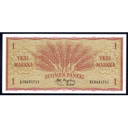 Финляндия 1 марка 1963 г. (FINLAND 1 Markka / Mark 1963) P98a:Unc