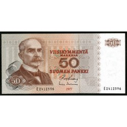 Финляндия 50 марок 1977 г. (FINLAND 50 Markkaa / Mark 1977) P108:Unc