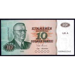 Финляндия 10 марок 1980 г. (FINLAND 10 Markkaa / Mark 1980) P112:Unc Litt.A