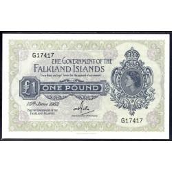 Фоклендские Острова 1 фунт 1982 г. (FALKLAND ISLANDS 1 Pound 1982) P8b:Unc