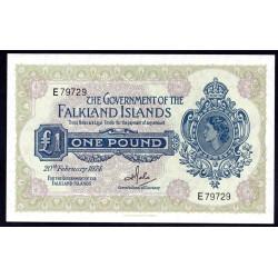 Фоклендские Острова 1 фунт 1974 г. (FALKLAND ISLANDS 1 Pound 1974) P8b:Unc