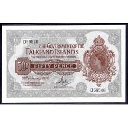 Фоклендские Острова 50 пенсов 1974 г. (FALKLAND ISLANDS 50 Pence 1974) P10b:Unc