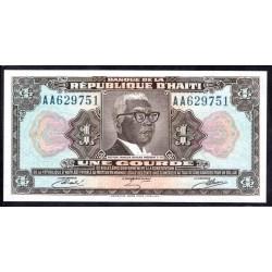 Гаити 1 гурд L.1979 г. (HAITI 1 Gourde L.1979 g.) P230А:Unc