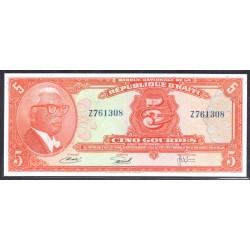 Гаити 5 гурдов L.1919 г. (HAITI 5 Gourdes L.1919 g.) P202:Unc