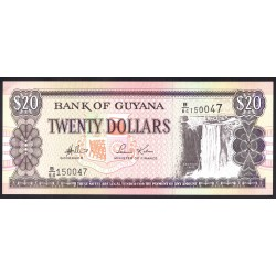 Гайана 20 долларов ND (1996-2018 г.) (GUYANA 20 dollars ND (1996-2018 g.) P30d:Unc