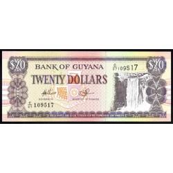 Гайана 20 долларов ND (1996-2018 г.) (GUYANA 20 dollars ND (1996-2018 g.) P30е:Unc