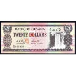 Гайана 20 долларов ND (1996-2018 г.) (GUYANA 20 dollars ND (1996-2018 g.) P30b:Unc