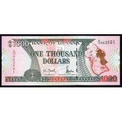 Гайана 1000 долларов ND (1996 г.) (GUYANA 1000 dollars ND (1996 g.) P33:Unc
