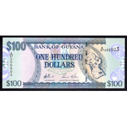 Гайана 100 долларов ND (2005 г.) (GUYANA 100 dollars ND (2005 g.) P36а:Unc