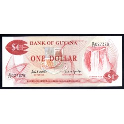 Гайана 1 доллар ND (1966 -92 г.) (GUYANA 1 dollar ND (1966-1992 g.) P21f:Unc