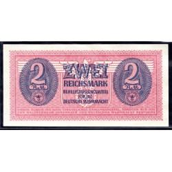 Вермахт  2 Рейхсмарки 1942/44 год (Wehrmacht 2 Reichsmark 1942/44 year) P-M37: UNC-