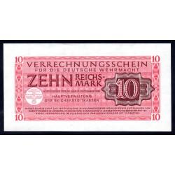 Вермахт 10 Рейхсмарок 1944/45 год (Wehrmacht 10 Reichsmark 1944/45 year) P-M40: UNC