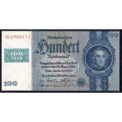 Германия 100 марок 1948 год, зона Советских войск (Germany 100 Mark 1948 year, Soviet Occupation) P 7b: UNC