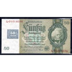 Германия 50 марок 1948 год, зона Советских войск (Germany 50 Mark 1948 year, Soviet Occupation) P 6b: UNC