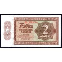 Германия 2 марки 1948 год  (Germany DDR 2 Deutsche mark 1948 year) P 10b: UNC