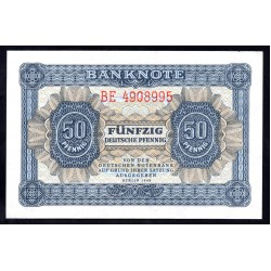 Германия 50 пфеннингов 1948 год  (Germany DDR 50 pfennig 1948 year) P 8b: UNC