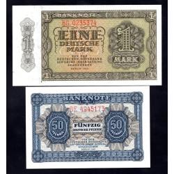 Германия, ГДР полный набор от 0.5 до 1000 марок 1948 год (Germany DDR complete set 0.5-1000 mark 1948 year) P 8-16: UNC