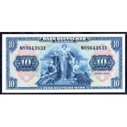 ФРГ 10 марок 1949 год, вариант 2 (GFR 50 deutsche mark 1948 year) P 16a: UNC