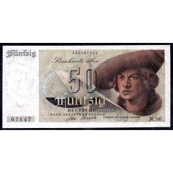ФРГ 50 марок 1948 год (GFR 50 deutsche mark 1948 year) P 14a: UNC