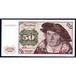 ФРГ 50 марок 1960 год (GFR 50 deutsche mark 1960 year) P 21: UNC
