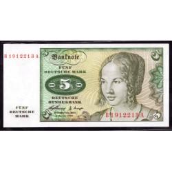 ФРГ 5 марок 1960 год, вариант 2 (GFR 5 deutsche mark 1960 year) P 18: UNC