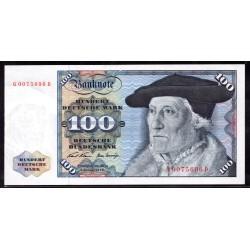 ФРГ 100 марок 1960 год (Germany, GFR 100 Mark 1960 year) P 22: UNC