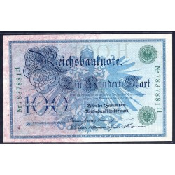 Германия 100 марок 1908 год (Germany 100 Mark 1908 year) P 34: UNC
