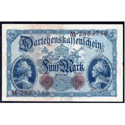Германия 5 марок 1914 год (Germany 5 Mark 1914 year) P 47b: XF