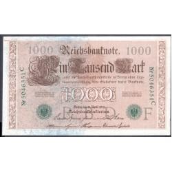 Германия 1000 марок 1910 год (Germany 1000 Mark 1910 year) P 45b: UNC