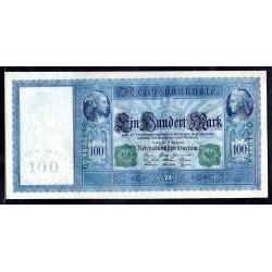 Германия 100 марок 1910 год (Germany 100 Mark 1910 year) P 43: UNC